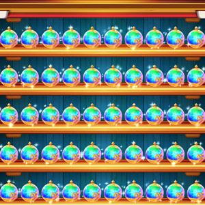 レインボーバブルがトレジャーの棚50個でいっぱいになったらどうなるの?